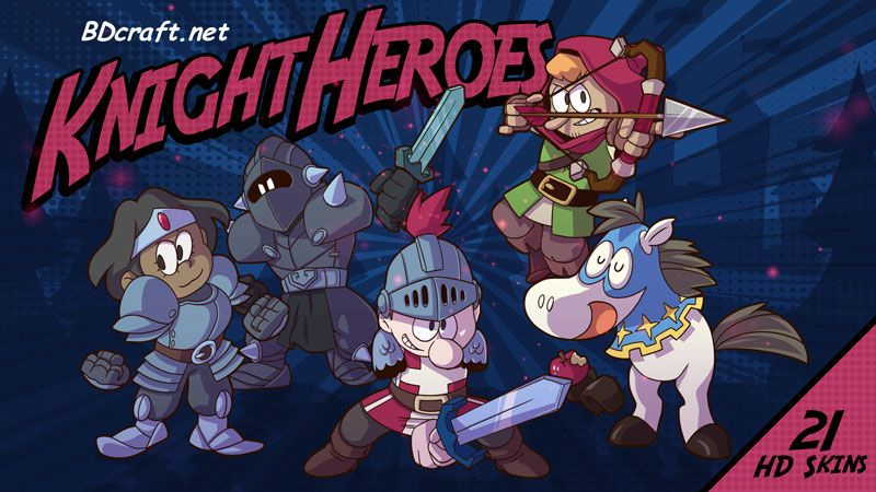 Knight Heroes Skins on the Minecraft Marketplace by BDcraft