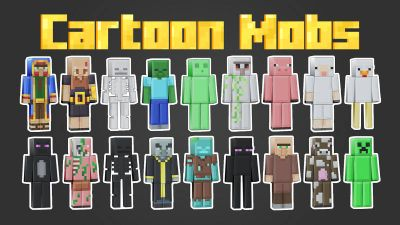 Cartoon Mobs on the Minecraft Marketplace by BLOCKLAB Studios