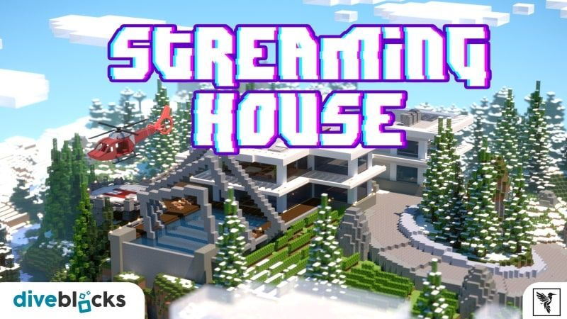 Streaming House on the Minecraft Marketplace by Diveblocks