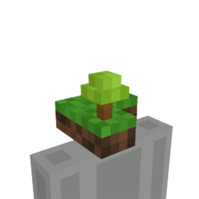 SkyBlock Island Head on the Minecraft Marketplace by The Lucky Petals