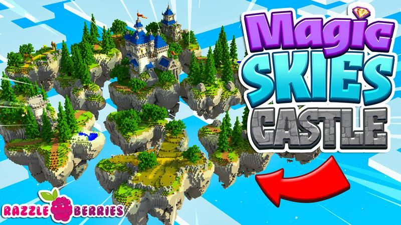 Magic Skies Castle on the Minecraft Marketplace by Razzleberries