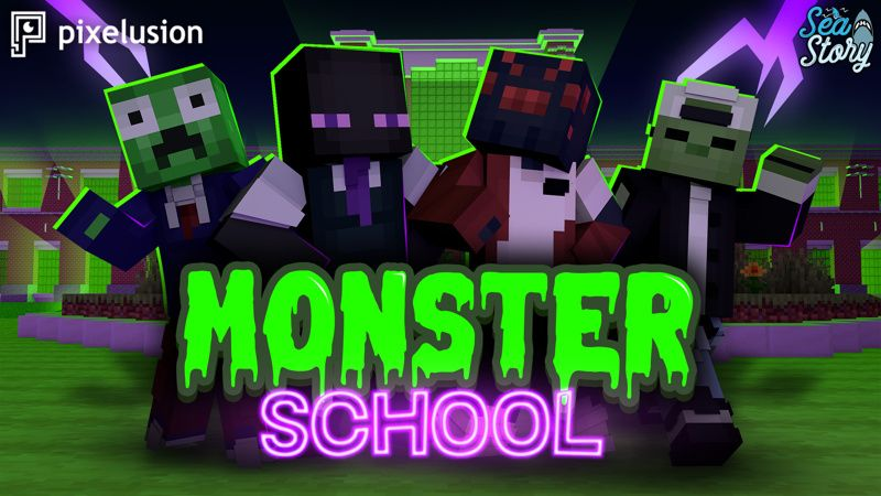 Monster School on the Minecraft Marketplace by Pixelusion