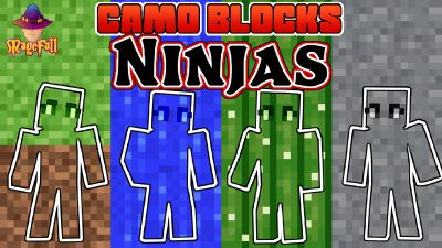Camo Blocks Ninjas on the Minecraft Marketplace by Magefall