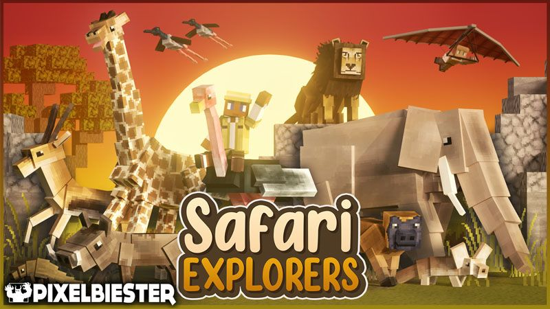 Safari Explorers on the Minecraft Marketplace by Pixelbiester