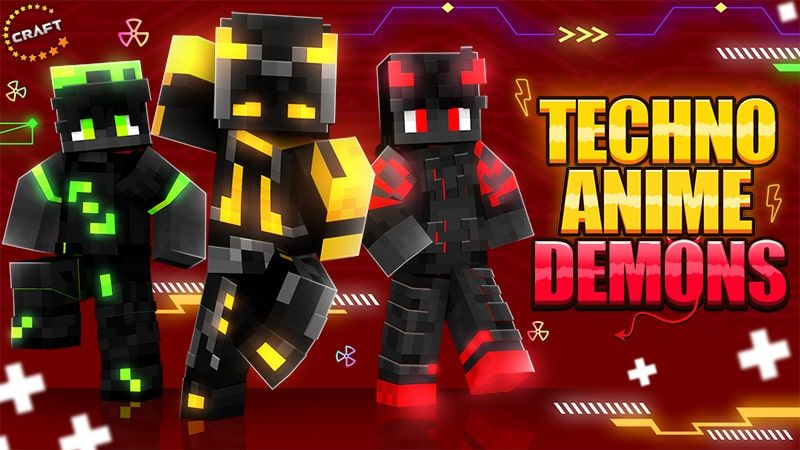 Techno Anime Demons on the Minecraft Marketplace by The Craft Stars