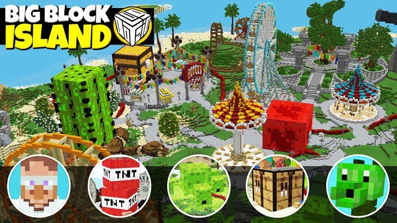 Big Block Island on the Minecraft Marketplace by Logdotzip