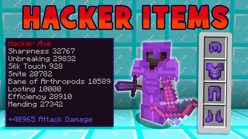 Hacker Items on the Minecraft Marketplace by Mine-North