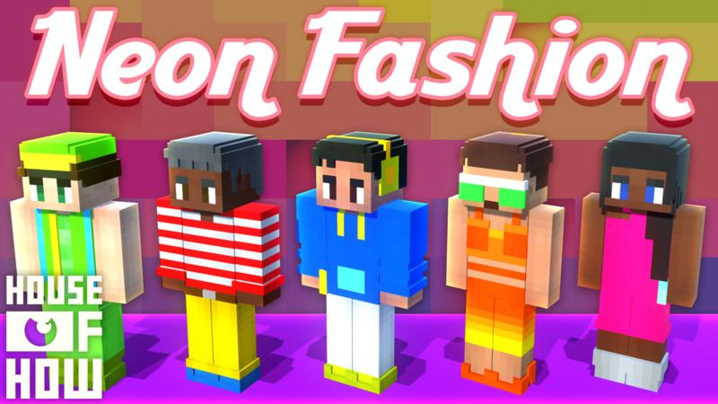 Neon Fashion on the Minecraft Marketplace by House of How