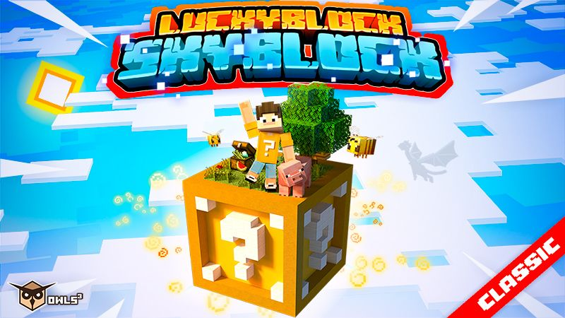 Skyblock Luckyblock on the Minecraft Marketplace by Owls Cubed
