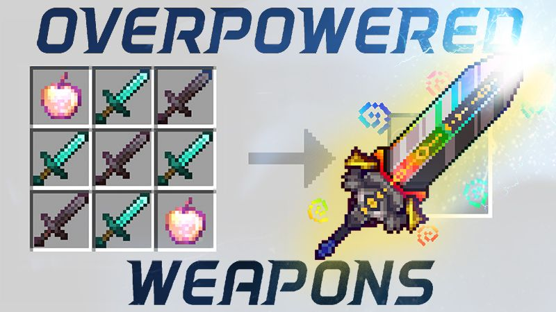 Overpowered Weapons on the Minecraft Marketplace by 4KS Studios