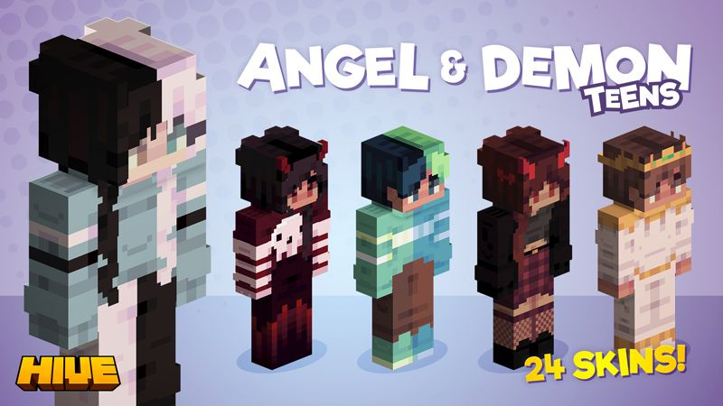 Angel  Demon Teens on the Minecraft Marketplace by The Hive