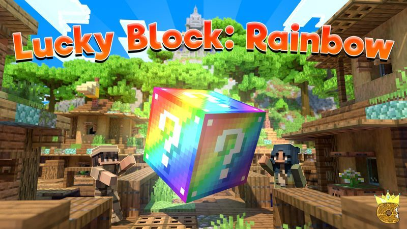 Lucky Block Rainbow on the Minecraft Marketplace by Asiago Bagels