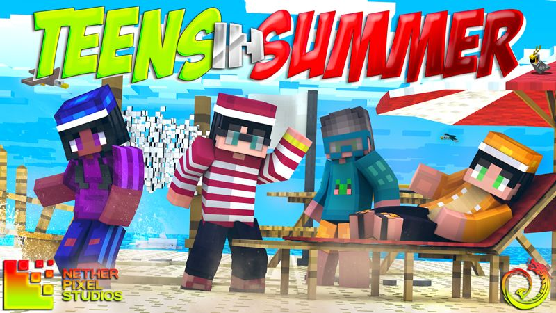 Teens in Summer on the Minecraft Marketplace by Netherpixel