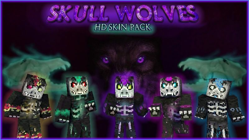 Skull Wolves HD Skin Pack on the Minecraft Marketplace by HearttCore Creations