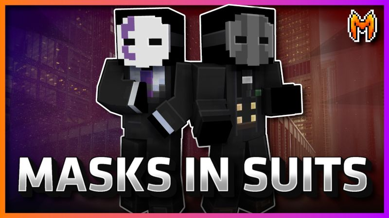 Masks in Suits on the Minecraft Marketplace by Metallurgy Blockworks