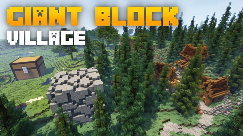 Giant Block Village on the Minecraft Marketplace by Fall Studios