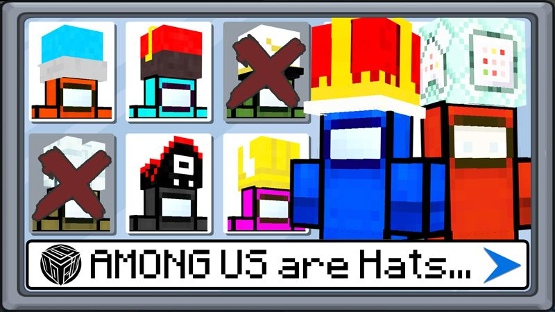 AMONG US are Hats on the Minecraft Marketplace by Logdotzip