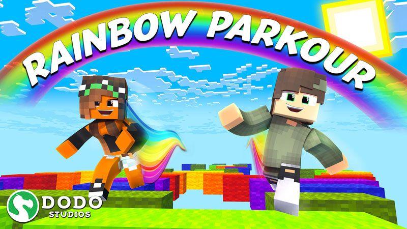 Rainbow Parkour on the Minecraft Marketplace by Dodo Studios