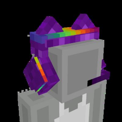 Rainbow Cat Headphones on the Minecraft Marketplace by UnderBlocks Studios