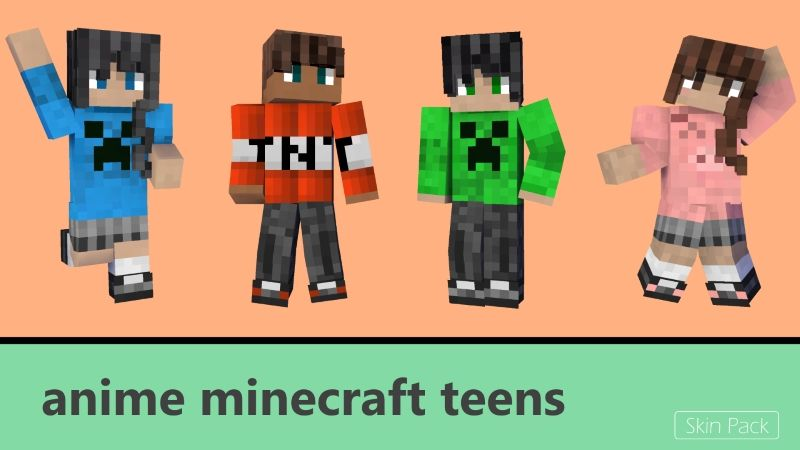 Anime Minecraft Teens on the Minecraft Marketplace by Arrow Art Games