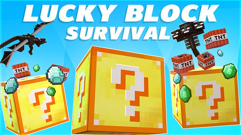Lucky Block Survival on the Minecraft Marketplace by Mine-North