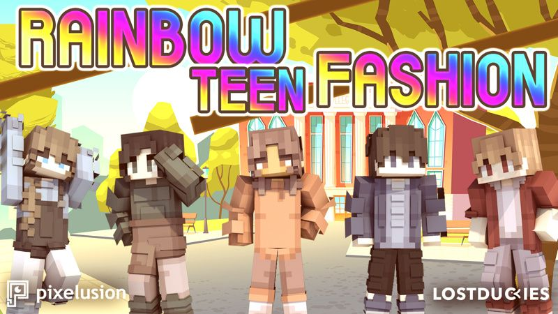 Rainbow Teen Fashion on the Minecraft Marketplace by Pixelusion