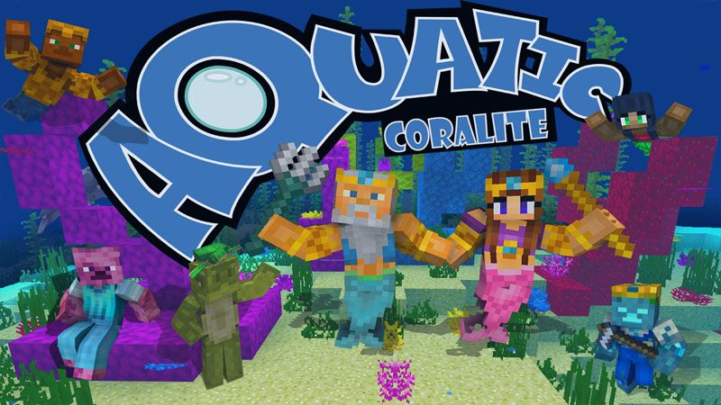 Aquatic Coralite pack on the Minecraft Marketplace by G2Crafted