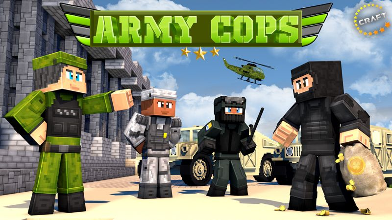 Army Cops on the Minecraft Marketplace by The Craft Stars