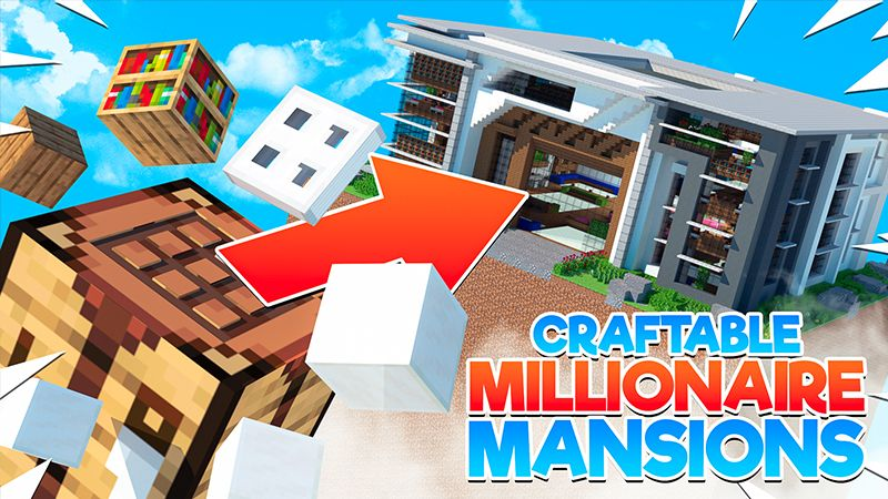 Craftable Millionaire Mansions on the Minecraft Marketplace by 4KS Studios