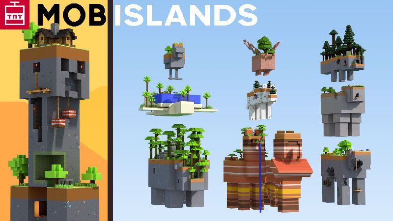 Skyblock Mob Islands on the Minecraft Marketplace by TNTgames