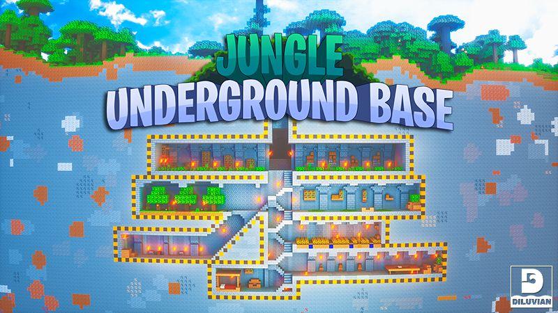 Jungle Underground Base on the Minecraft Marketplace by Gearblocks