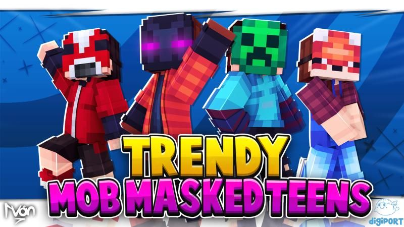 Trendy Mob Masked Teens on the Minecraft Marketplace by DigiPort