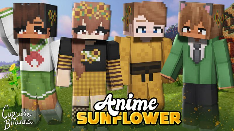 Anime Sunflower HD Skin Pack on the Minecraft Marketplace by CupcakeBrianna