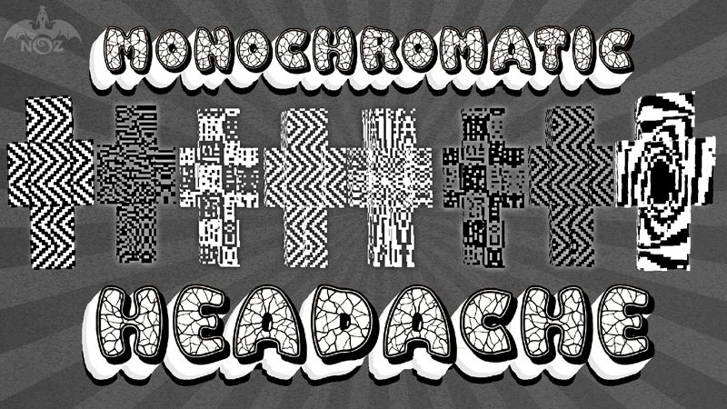 Monochromatic Headache on the Minecraft Marketplace by Dragnoz