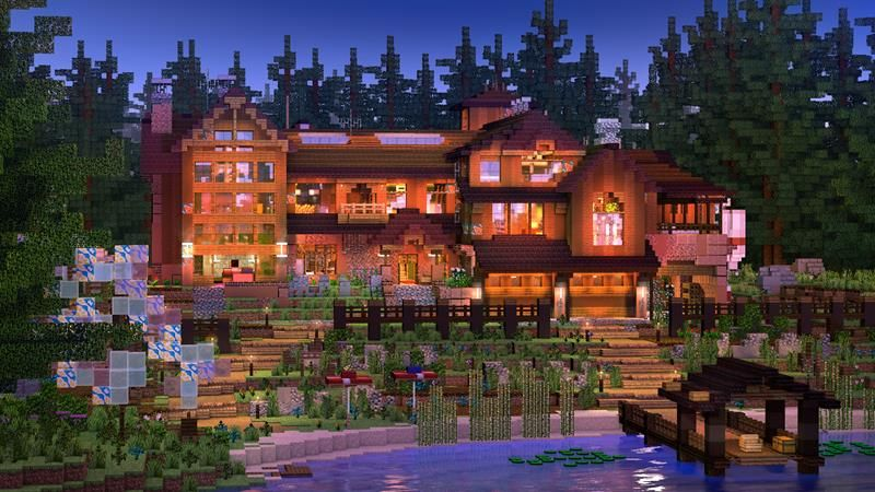 Woodland Cabin on the Minecraft Marketplace by RareLoot