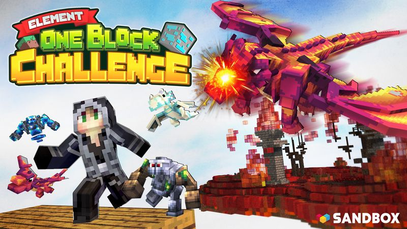 Element One Block Challenge on the Minecraft Marketplace by Sandbox Network
