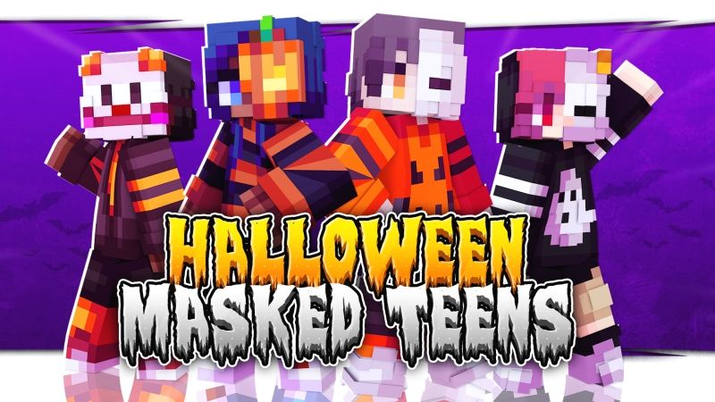 Halloween Masked Teens on the Minecraft Marketplace by Fall Studios