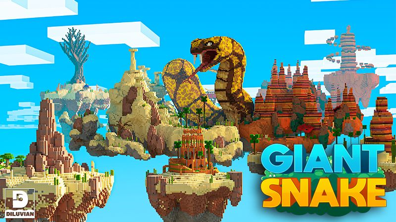 Sky Monster Giant Snake on the Minecraft Marketplace by Diluvian