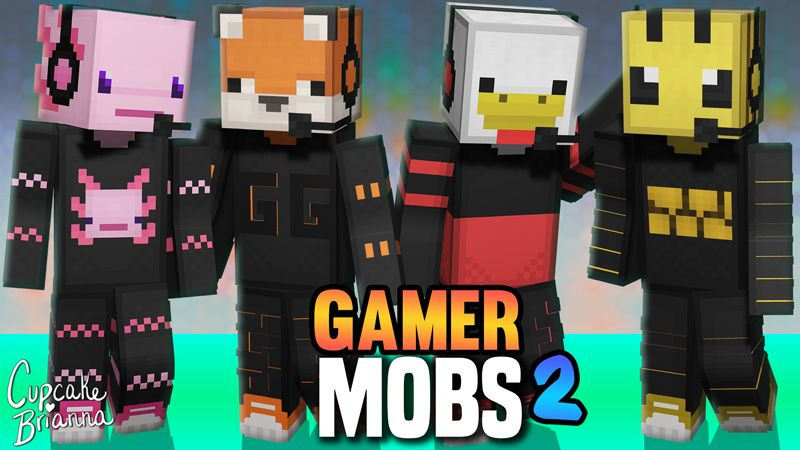 Gamer Mobs 2 HD Skin Pack on the Minecraft Marketplace by CupcakeBrianna