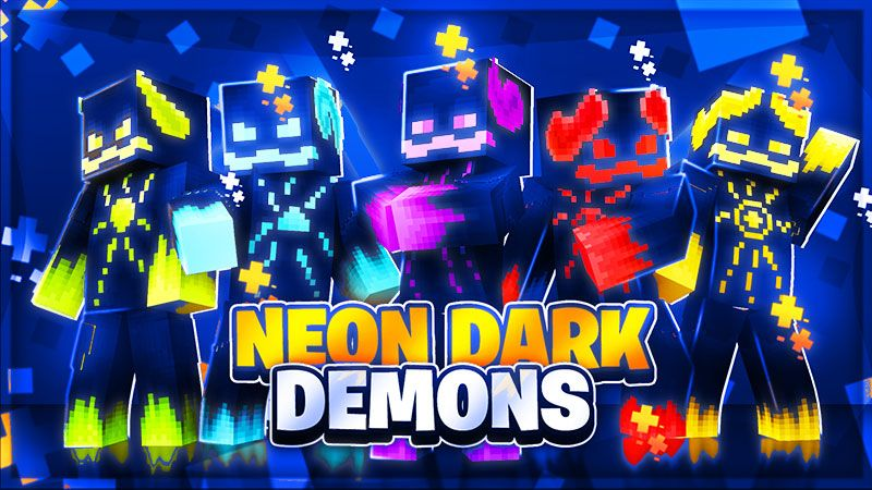 Neon Dark Demons on the Minecraft Marketplace by The Lucky Petals