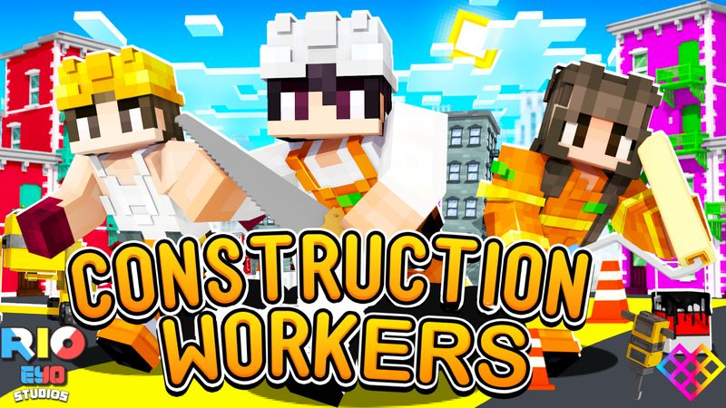 Construction Workers on the Minecraft Marketplace by Rainbow Theory