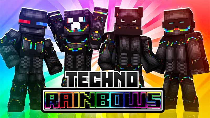 Techno Rainbows on the Minecraft Marketplace by The Lucky Petals