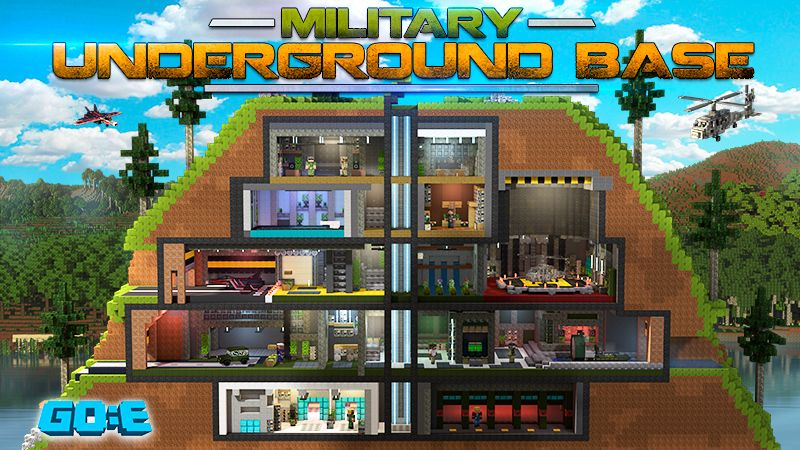 Military Underground Base on the Minecraft Marketplace by GoE-Craft