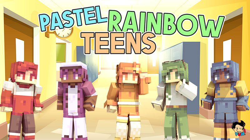Pastel Rainbow Teens on the Minecraft Marketplace by Duh
