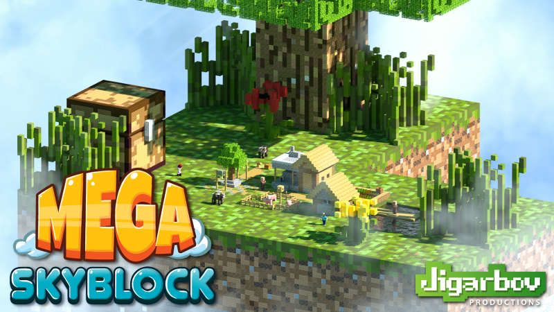 MEGA Skyblock on the Minecraft Marketplace by Jigarbov Productions