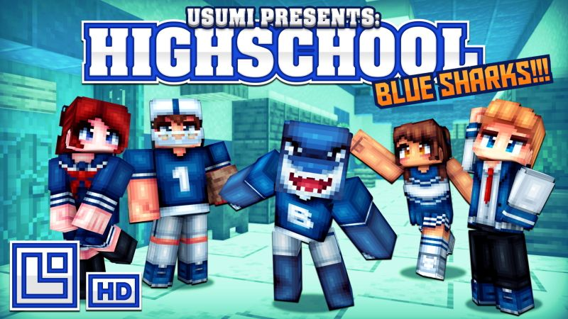 High School Blue Sharks on the Minecraft Marketplace by Pixel Squared