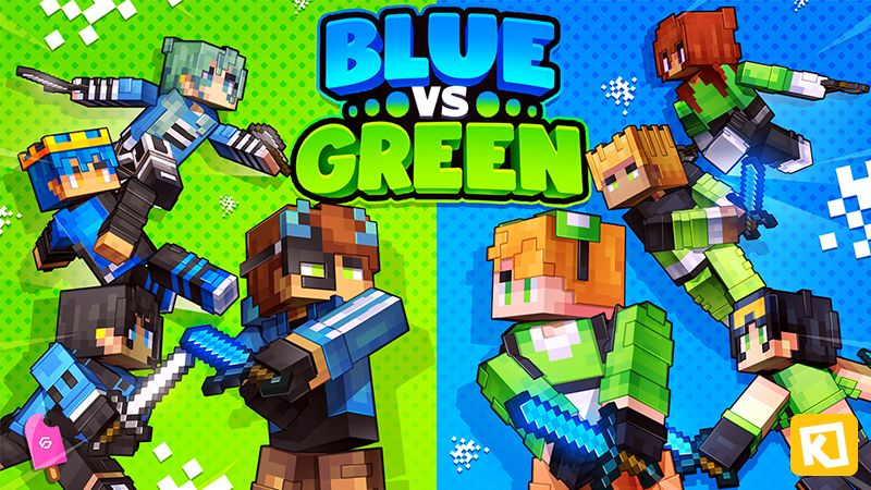 Blue vs Green on the Minecraft Marketplace by Kuboc Studios