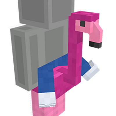 Riding a Flamingo on the Minecraft Marketplace by Cleverlike