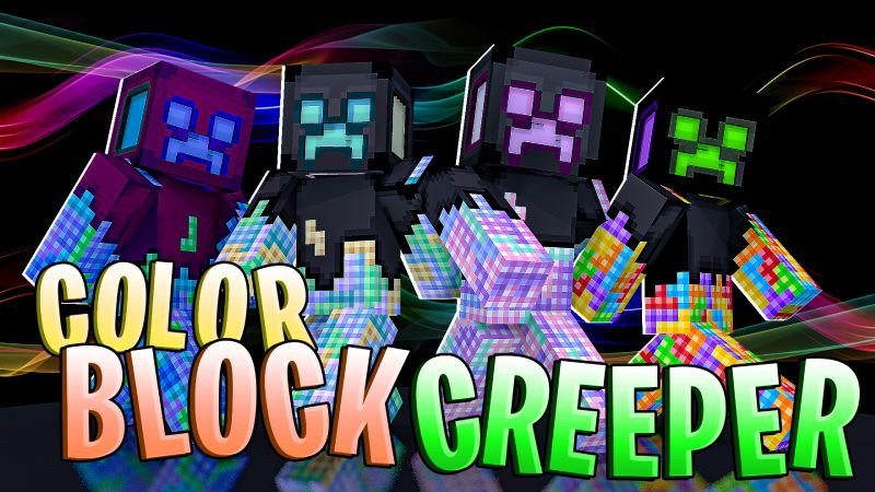 Colorblock Creeper on the Minecraft Marketplace by DogHouse