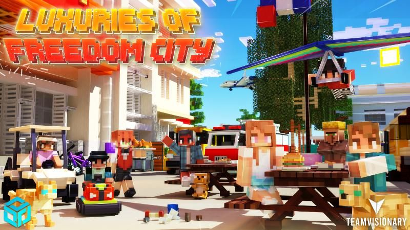 Luxuries of Freedom City on the Minecraft Marketplace by Team Visionary